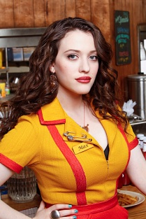 2 Broke Girls -- Kat Dennings stars as Max Black on the CBS comedy 2 Broke Girls scheduled to air on the CBS Television Network. This photo is provided for use in conjunction with the TCA SUMMER PRESS TOUR 2011. Photo: Monty Brinton/CBS ©2011 CBS Broadcasting Inc. All Rights Reserved.